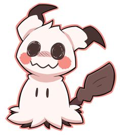 I really wanna see Mimikkyu without the pikachu cloth thingy. I bet he'd be either really cute or scary. Maybe both! Aah no he'd be super cute to me no matter what