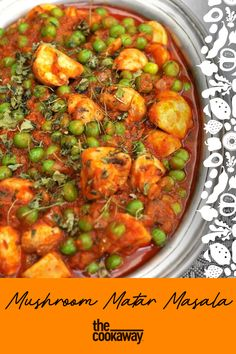 A satisfying combination of mushrooms and peas cooked in a creamy spiced tomato base finished with coriander. Coriander Spice, Gluten Free Recipes, Vegan Recipes, Stir Fry Dishes, Curry, Stuffed Mushrooms, Spices, Vegetarian, Base