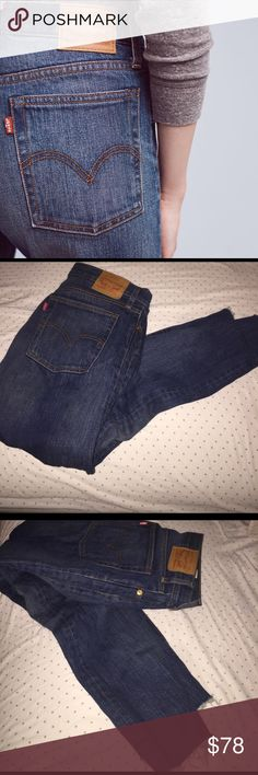 Levi's Levi's Wedgie Icon High Rise Jean, runs a little small more like a size 30 Anthropologie Jeans Ankle & Cropped