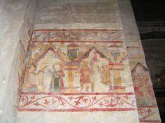 France, Drome, Saint Paul 3 Chateaux, Cathedrale, Peinture murale
