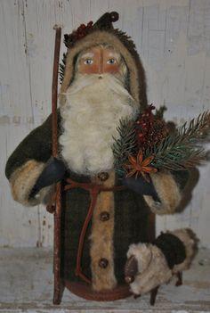 Woodland Santa Claus ...OOAK Woodland Wonderland Belsnickle Santa doll
