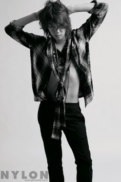 Well, would you look at him...Work it. xD ~~ Kim Heechul in Nylon Korea December 2009