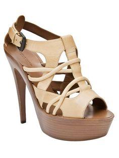 Bottega Veneta Strappy Wooden Sandal
