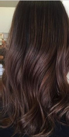 dark base color with hint of highlights - dark chocolate brunette