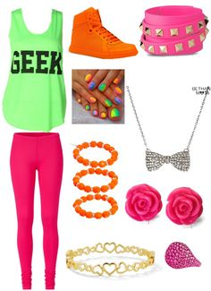Neon outfit!!