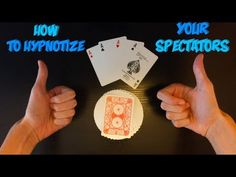 """How To """"Hypnotize"""" Your Spectators: Amazing Card Trick! - YouTube"""
