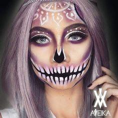 Halloween makeup Pinterest @trulynessa89 ☆