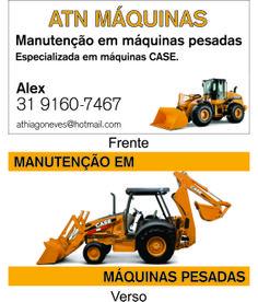Cartão de Visitas ATN Máquinas.