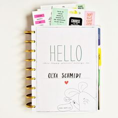 a flip-through of mambi Design Team member Olya Schmidt's Happy Planner™ | me & my BIG ideas