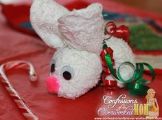 Cute Christmas Craft Ideas for Kids - Christmas Rabbit #TBCCrafters