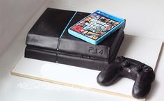 PlayStation 4 Console - Video Games - Ideas of Video Games - Cake! All Edible =) Playstation Ideas of Playstation Cake! Video Game Cakes, Video Game Party, Video Games, 4th Birthday Cakes, Boy Birthday, Happy Birthday, Ps4 Cake, Playstation Cake, Foto Pastel