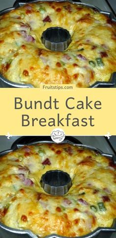 This Bundt Cake Breakfast recipe is perfect for brunch. Ham, tater tots and cheese are baked into a scrumptious slices of deliciousness. This BUNDT CAKE BREAKFAST from my grandmother recipes book seemed like it would Breakfast Bundt Cake, Breakfast Desayunos, Breakfast Items, Breakfast Dishes, Breakfast Recipes With Eggs, Breakfast Ideas With Eggs, Breakfast Healthy, Frozen Breakfast, Breakfast Sandwiches