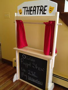 Puppet Show Theater Made From Pallets -- #pallets