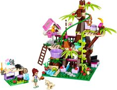 LEGO Friends Jungle Tree Sanctuary It's hard to find. Was only in the Lego catalog. Legos, Lego Friends Sets, Jungle Tree, Lego Clones, Lego Girls, Xmas Wishes, Lego Room, Buy Lego, Lego House