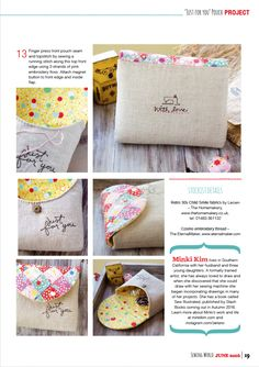 Just for you Pouch Pattern and DIY