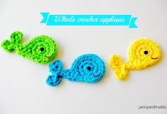 Easy Whale Crochet Applique (Free Crochet Pattern) - Craftfoxes