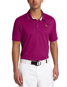 Puma Men's Golf Tech Polo, Clover, X-Large by PUMA. $39.99. Amazon.com                  Puma Men's Golf Tech Polo The Puma Men's Golf Tech Polo keeps your game looking good and feeling good on sun warmed greens. The polo offers a classic, three-button placket with a streamlined silhouette for timeless style. Innovative flat-lock seams and technical, moisture-wicking fabric reduce chafing to ensure nothing will come between you and your swing. Meanwhile, the lightw...