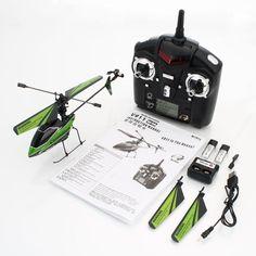 ¥38.99 WLtoys V911 4CH Single Blade 2 4GHz RC Helicopter Toy Green RTF Mode 2   eBay