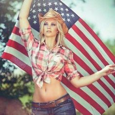 You tried? Sexy patriotic blonde nude apologise