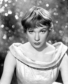 Shirley MacLaine.  Seriously, could anyone else pull off this haircut?  Love her.