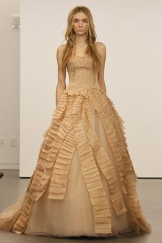 Texture! Organic and flowy (Vera Wang)