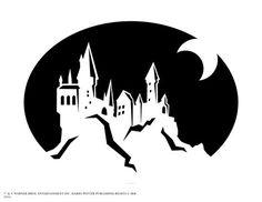 Harry Potter Hogwarts castle pumpkin carving stencil for Halloween pumpkins harry potter Harry Potter Halloween, Harry Potter Cosplay, Harry Potter Birthday, Chateau Harry Potter, Harry Potter Castle, Harry Potter Shop, Harry Potter Decal, Harry Potter Pumpkin Carving, Easy Pumpkin Carving