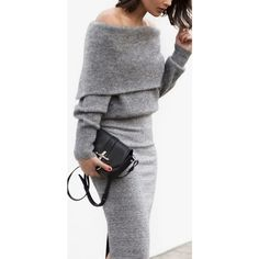 Women's fashion Off the shoulder grey cashmere sweater with fitting... via Polyvore featuring tops, sweaters, gray off the shoulder sweater, off the shoulder sweater, off shoulder cashmere sweater, wool cashmere sweater and grey off the shoulder top