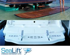 The reputation is very important to boat manufacturers, and that is why they choose to install SeaLift Hydraulic Watercraft Lifts. Inflatable Island, Aluminum Boat, All Stainless Steel, Boat Design, Water Crafts, Custom Design, Chris Craft, Swimming, Construction