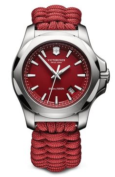 Victorinox Swiss Army® 'I.N.O.X.' Paracord Strap Watch, 43mm