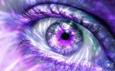 Violet eye, olho violeta, oeil violet