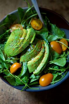 avocado spinach salad  #avocado#salad