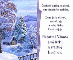 Přejí Renata a Karel Winter Christmas, Merry Christmas, Christmas And New Year, Jesus Mary And Joseph, Winter Scenes, Christmas Pictures, Motto, Decoupage, Congratulations