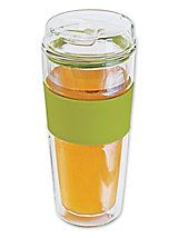 Double Wall Glass Tea or Coffee Tumbler - Insulated glass tumbler keeps your beverage hot or cold | Solutions
