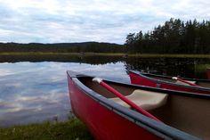 NORWAY - TRYSIL - canoeing - starting our Beaversafari in the twilight hours with TrysilGuidene