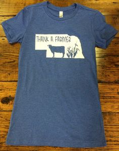 We love all of our hardworking Nebraska Farmers out there! All shirts are printed with the white Nebraska State except the dark heather that has a red glitter option. Shirts are Bella brand ladies shi