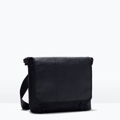 """SOFT MESSENGER BAG from Zara    Ref. 3517/005  599,900 IDR  32 x 36 x 13 cm. / 13 x 14 x 5""""  Great for daily commuter."""