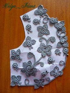Mektupları ve Lala Sanat: Tığ İrlanda İrlanda Dantel: bluz ve elbiseler-sayıcı (Pinterest ile