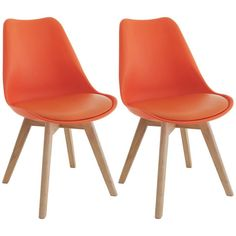 Buy Habitat Jerry Pair of Dining Chairs - Orange at Argos. Thousands of products for same day delivery or fast store collection. Metal Dining Table, Fabric Dining Chairs, Oak Table, Table And Chairs, Dining Tables, Beautiful Dining Rooms, Seat Pads, Argos, Solid Oak