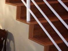 LVT on open stairs