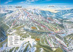 Southern Exposure (published in at Big Sky Resort Skiing In America, Big Sky Ski, Big Sky Resort, Big Sky Montana, Best Ski Resorts, Iron Mountain, Country Maps, Trail Maps, Snow Skiing