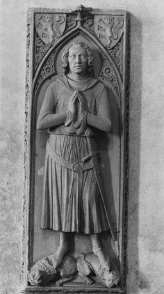 Grabmal für Graf Eberhard I. von Katzenelnbogen (1245-1311), nach 1311, Grabplatte, Eberbach (Hattenheim), Klosterkirche, Sankt Maria