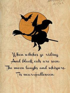 Halloween Quotes : Halloween All Hallows Eve Trick or Treat Witch Goblin Ghost Black Cat Bat Retro Halloween, Halloween Tags, Funny Halloween Memes, Photo Halloween, Halloween Poems, Halloween Mantel, Holidays Halloween, Halloween Costumes, Halloween Witches