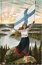 Print of The Personification of Finland (Suomi) Framed Artwork, Framed Prints, Canvas Prints, National Flag, Wonderful Images, Poster Size Prints, Photo Wall Art, Online Printing, Fine Art Prints