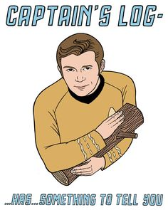 captain's log has something to tell you by BettyTurbo, $24.00  Star Trek/Twin Peaks ftw