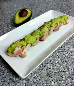 Grilled Tuna with Spicy Avocado Mayo