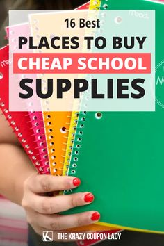 It's time to start thinking about where to find school supplies- cheap! The school year is here, and most schools, from elementary to college, are stuck somewhere between the normal and hybrid. One thing that will never change is the need for cheap school supplies, whether or not you have an actual back to school supplies list. The Krazy Coupon Lady has all the money-saving back-to-school shopping tips and school supplies shopping hacks you'll need this year. Cheap School Supplies, Back To School Supplies List, Back To School Shopping, Coupon Lady, Supply List, Shopping Tips, Buy Cheap, A Team, Schools