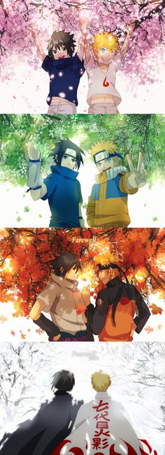 Naruto & Sasuke/ this makes me so sad cause im watching Naruto right now, and I'm in the part when sasuke turns to Orochimaru sama...