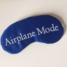 Go into Airplane Mode with this Sleep Mask thats Perfect the Travel Companion for Sweet Dreams in the Sky! Satin Sleep Mask made in cobalt blue