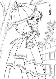 Nour Serhan uploaded this image to 'Honey Angel Colouring Book'. See the album on Photobucket. Blank Coloring Pages, Printable Adult Coloring Pages, Coloring Books, Zentangle, Digital Stamps Free, Japanese Drawings, Fairy Coloring, Princess Coloring, Old Anime
