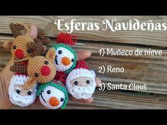 Crochet Christmas Decorations, Christmas Crochet Patterns, Holiday Crochet, Cute Crochet, Crochet Yarn, Crochet Toys, Christmas Projects, Christmas Crafts, Crochet Videos